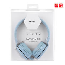 Miniso HM001 Folding Musik Headphone 3.5 Mm Wired Earphone Heavy Bass Headset Hi-Fi Stereo Headset Concision Style(China)