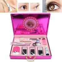 Pro Makeup False Eyelash Extension Starter Practice Individual Mink Eyelashes Grafting Set Kit Beginner Tool Kit Set Training