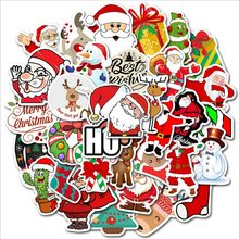 50 PCS Christmas series VSCO Santa Claus Christmas Present Elk Sticker Toy Waterproof Sticker DIY Suitcase Laptop Decal(China)