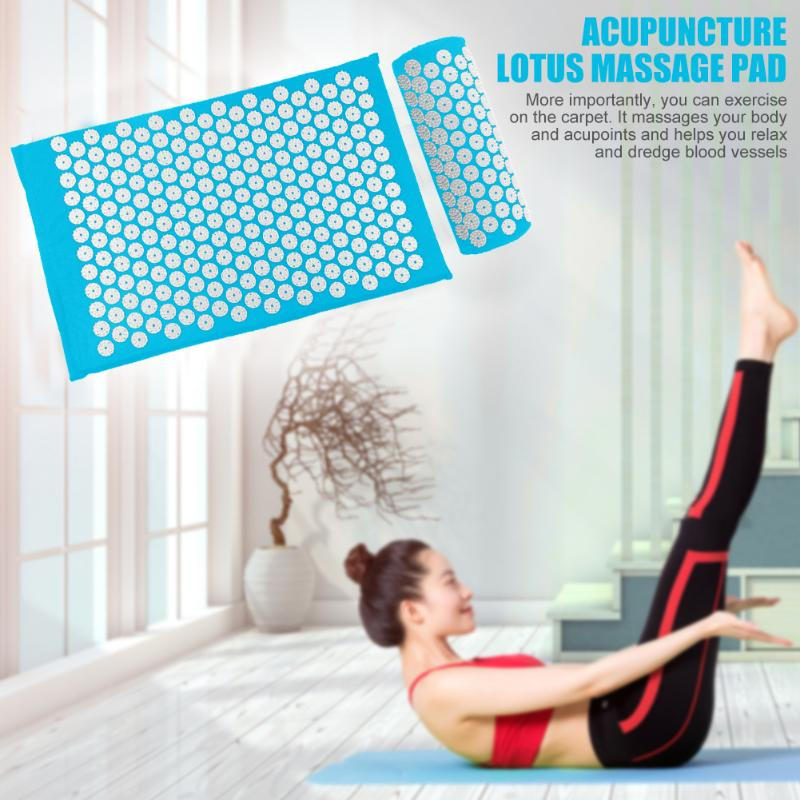 Acupressure Massage Mat with Pillow set to body Relaxation to Release Stress and Tension 3