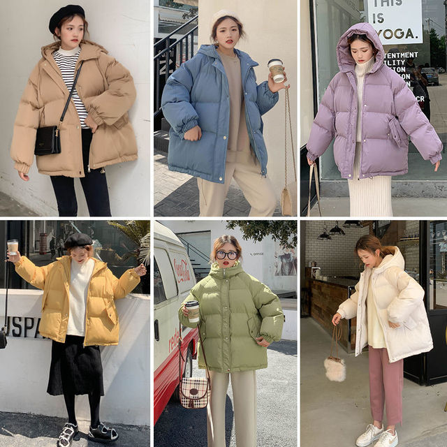 New 2020 Women Short Jacket Winter Thick Hooded Cotton Padded Coats Female Korean Loose Puffer Parkas Ladies Oversize Outwear 2