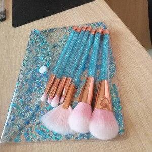 Image 5 - 7 Pcs Glitter Diamond Crystal Handle Makeup Brushes Set Powder Foundation Eyebrow Face Make Up Brush Cosmetic Foundation Brush