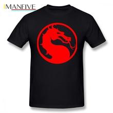 Mortal Kombat T Shirt Red Dragon T-Shirt Funny 6xl Tee Mens Cotton Graphic Casual Short Sleeve Tshirt