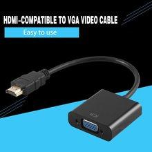 Compatibile HDMI con adattatore VGA convertitore da cavo Audio digitale ad analogico connettore VGA per PC portatile PS4 Chromebook TV Box