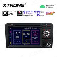 Xtrons Android 10.0 Qualcomm Bluetooth 5.0 Car Radio Stereo Dvd-speler Gps Obd Tpms Voor Audi A3 8P 2003-2012 S3 8P RS3 Sportback
