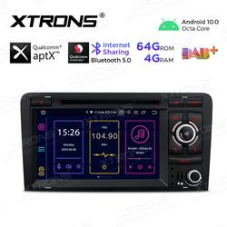 XTRONS Android 10.0 Qualcomm Bluetooth 5.0 Car Radio Stereo DVD Player GPS OBD TPMS For Audi A3 8P 2003-2012 S3 8P RS3 Sportback