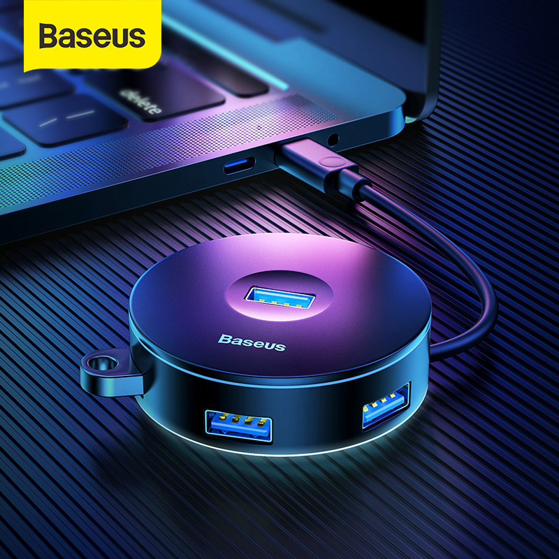 Baseus USB HUB USB 3.0 USB C HUB For MacBook Pro Surface USB Type C HUB USB 2.0 Adapter With Micro USB For Computer USB Splitter