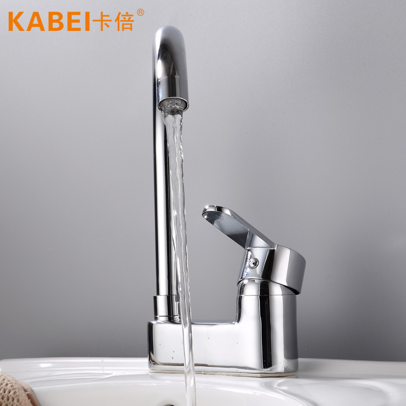 Diplopore Single Handle Basin Hot And Cold Faucet Rotatable Bathroom Toilet 3-hole Wash Basin Counter Basin Tap