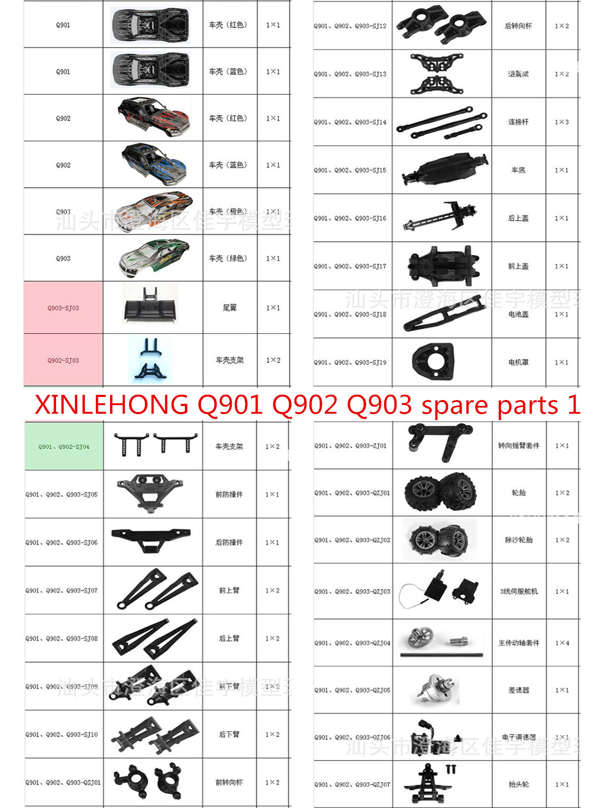 Remote Control Car Front Steering Cups Parts for Xinlehong 9125 Q901//Q902//Q903