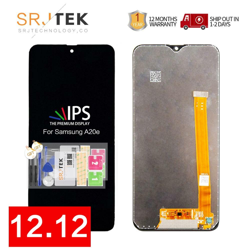 ORIGINAL Display For <font><b>SAMSUNG</b></font> <font><b>Galaxy</b></font> <font><b>A20e</b></font> <font><b>LCD</b></font> Touch <font><b>Screen</b></font> Digitizer Assembly with Frame Replacement A202 A202F image