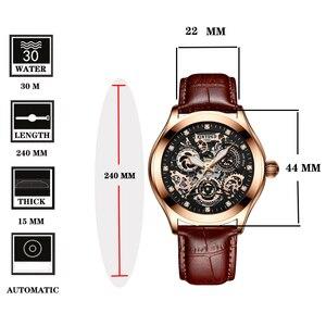 Image 4 - Super Mechanische Gefühl, Edgy Hohl Uhr Disc, KINYUED, die Neueste Mode Wasserdicht Luminous männer Automatische Mechanische Uhr