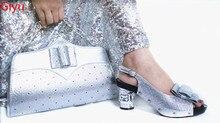 Doershow очень модные итальянские туфли с подходящими сумочками, набор африканских туфель и сумочек для вечеринки, женские итальянские туфли с ...