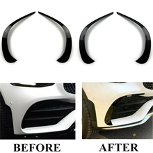 For Mercedes Benz GLC X253 GLC260 GLC300 2020 Car Front Bumper Spoiler Air Vent Outlet ABS Trim Cover