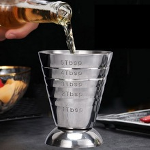 75ml Ounce Jigger Bar Cocktail Drink Mixer Liquor Measuring Cup Measuring Shot Cup Stainless Steel Mojito Measurer Coffee Mug