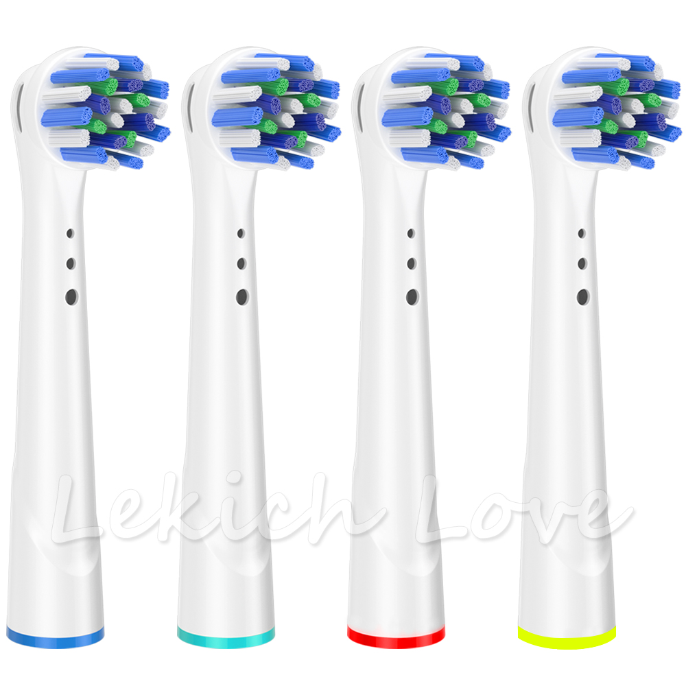 4 Pcs Cross Clean Toothbrush Heads For Oral B Toothbrush Heads More Choices With Travel Case Or Protective Covers