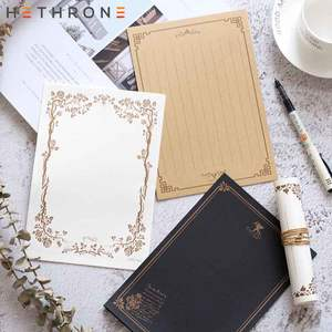 Hethrone Letter Paper Stationery Vintage-Style 8sheets Storage Wedding-Holiday Culture