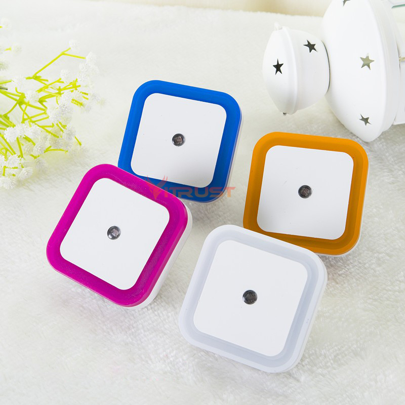 LED Night Light Lamps Light Sensor Control Mini Auto Nightlight Plug Lamp Baby Kids Bedroom Bathroom Lighting Energy Saving Lamp