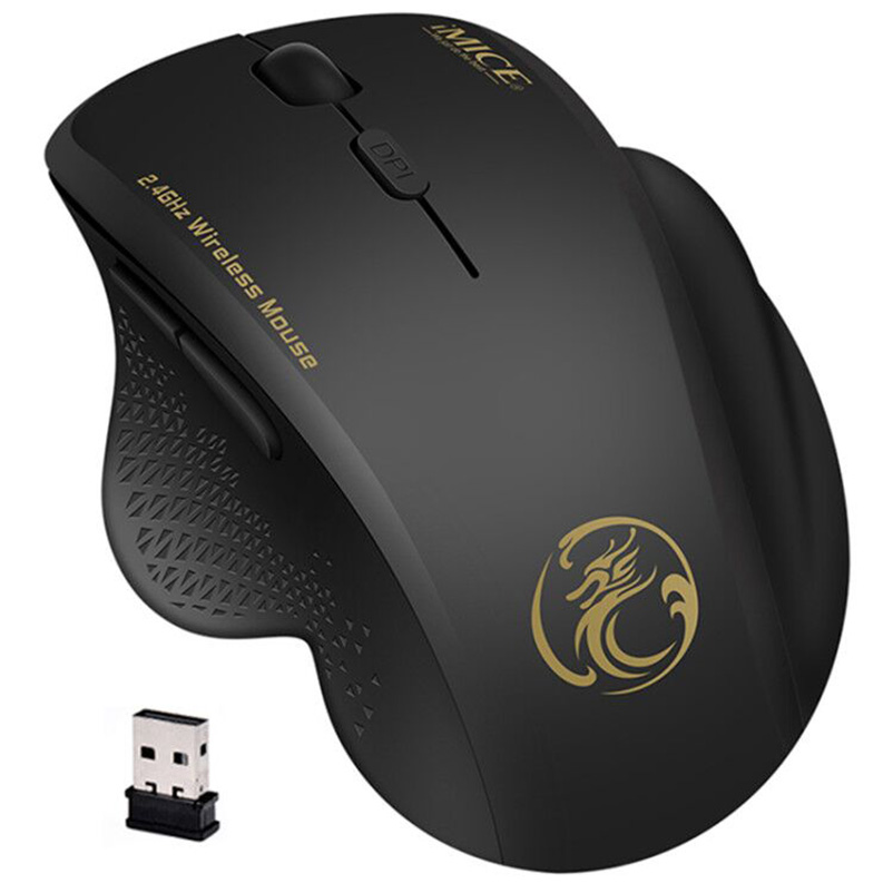 Computer Mouse Mice Laptop Optical Power-Saving Wireless 2.4 1600 Ghz PC USB DPI  title=