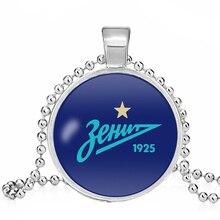Индивидуальные FC Zenit Святой держатель ожерелье футбольный клуб 25 мм стекло кабошон лиг логотип футбольный клуб ожерелье для поклонников