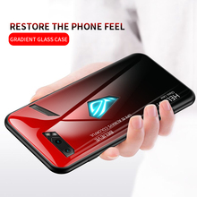 For Asus ROG Phone 2 ZS660KL Gradient Tempered Glass Case  Silicone Frame Hard Glass Back Cover For Asus ROG 2 8cell battery a42n1403 for asus rog g751j bhi7t25 a42lm93 4icr19 66 2 gfx71jy g751j g751jm rog g751 gfx71 rog gfx71