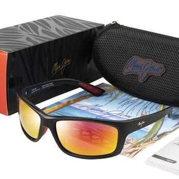 Square Polarized Sunglasses Maui Jim Vintage Driving Sun Glasses Kanaio Coast Brand Sport Sunglasses Men Eyewear Male Oculos