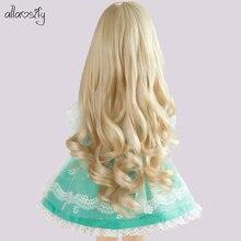 Allaosify bjd кукла аксессуары 1/3 1/4 1/6 1/8 Bjd кукла парик длинные вьющиеся волосы для куклы bjd парик 21 цвет