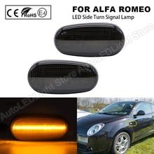 2Pc Alfa Romeo 147 GT(937)MiTo 955 FIAT Bravo 2 198 Hatchback LED 사이드 마커 라이트 화살표 방향 지시등 깜박임 램프 표시기
