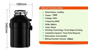 Image 5 - Hot Selling Korea Vuilnis Ontdoener Ac Motor Voedselafval Ontdoener + Lucht Schakelaar