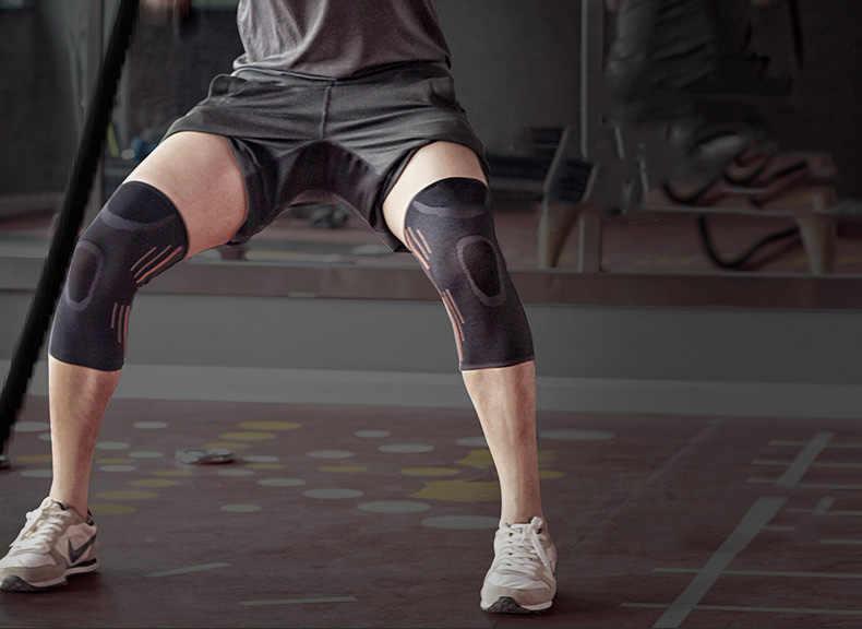 1 pçs elastic náilon cotovelo joelheira joelheira banda ginásio protetor de fitness joelho suporte cotovelo joelho manga cinta joelheira