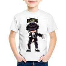 T-Shirt Kids Michael Jackson Baby-Boys/girls Tops Funny Children Cartoon Summer Casual