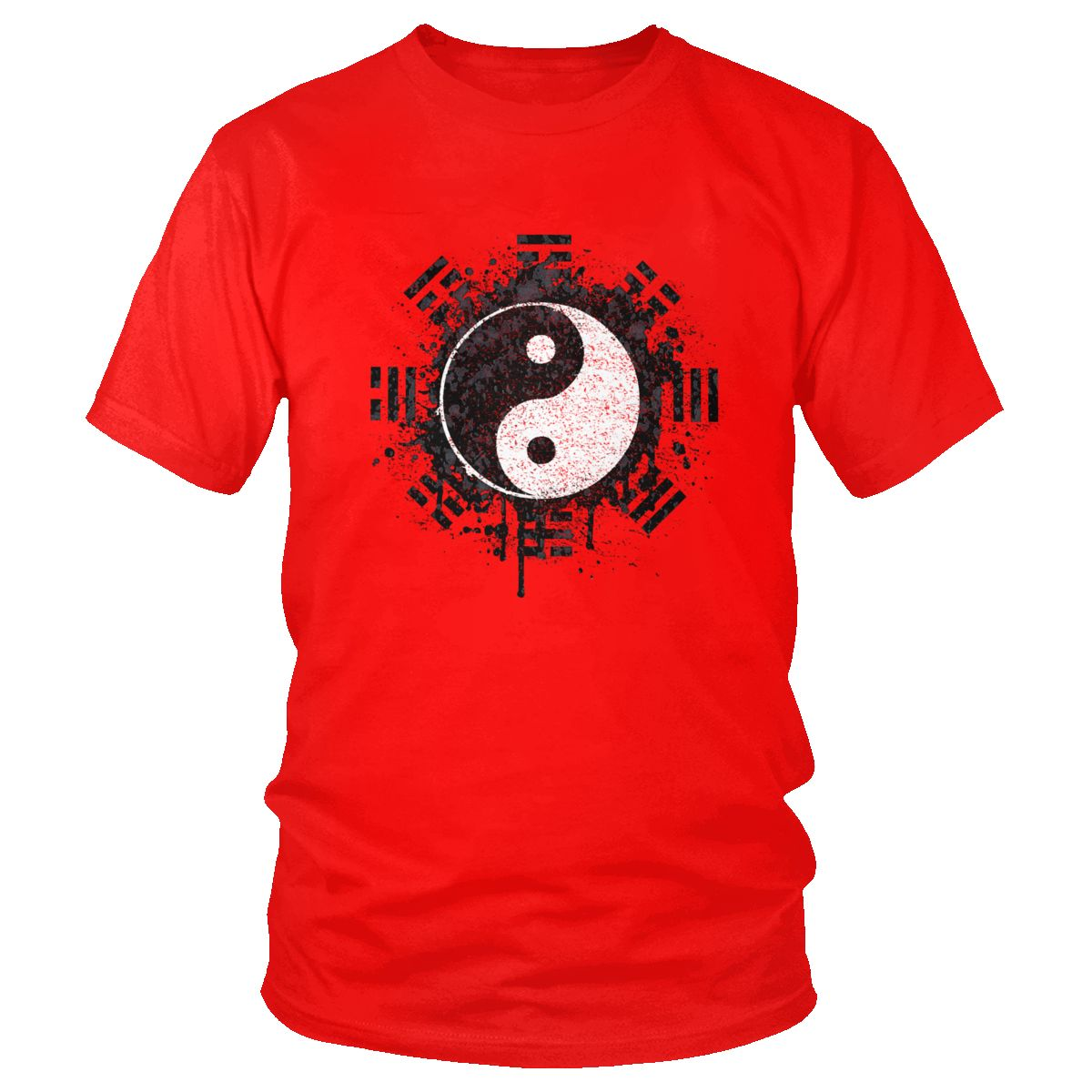 Китай Тай чи чуань футболка крутой дизайн хлопок футболки мужские с коротким рукавом Инь Ян стиль футболка китайский кунг фу Taiji Quan Tee