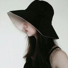 Унисекс, летняя складная шляпа-ведро, женская, для улицы, солнцезащитная, хлопковая, для рыбалки, охоты, мужская, для бассейна, шапка, защита от солнца, шляпы, подарок