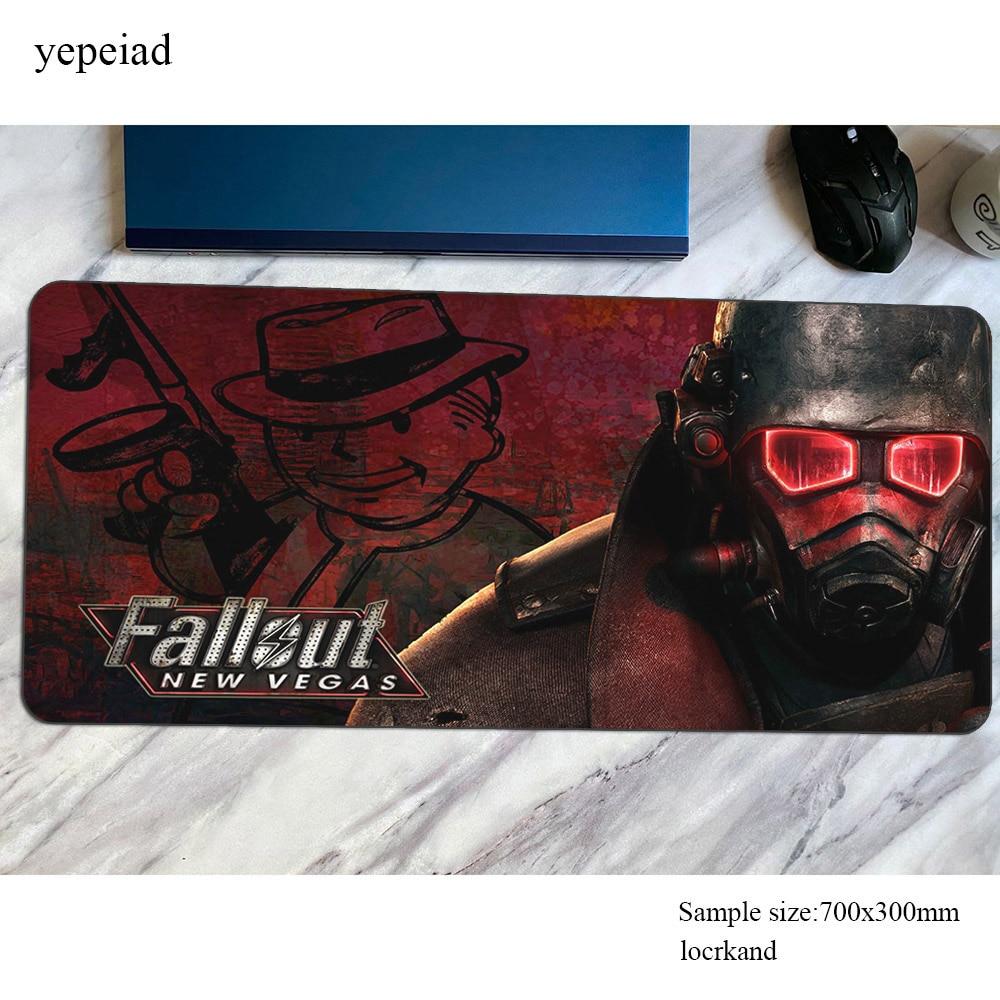 Коврики Fallout рождественские подарки игровой коврик для мыши большой 700x300x4 мм клавиатура Коврик для мыши Xxl ноутбук для геймеров аксессуары к...