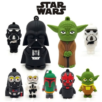 цена на Pendrive Star Wars Usb Flash Drive Cartoon Darth Vinda Pen Drive 4GB 8GB 16GB 64GB 128GB 256GB Flash Memory 32GB Usb Stick Gift