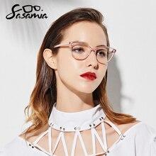 Oprawki do okularów kocie oczy kobiety beżowe okulary moda kobiety oprawki do okularów octan okulary dla osób z krótkowzrocznością wyczyść Gafas okulary ramka kobiety