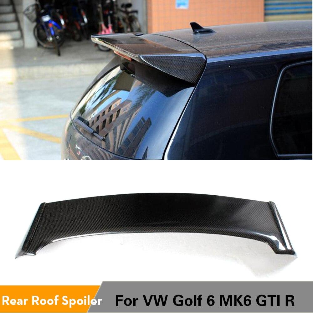 Задний спойлер на крышу, оконные крылья для Volkswagen VW Golf 6 VI MK6 GTI и R20, только 2010 2011 2012 2013 углеродное волокно/FRP