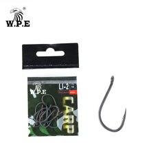Wpe рыболовные снасти крючки с бородкой и покрытием 3 упаковки