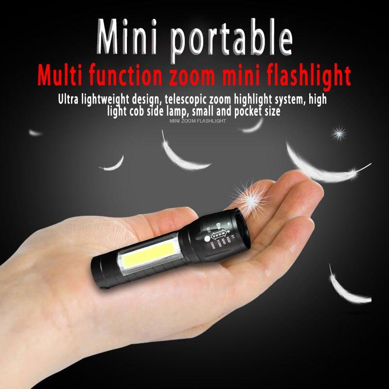 Светодиодный светильник-вспышка с выдвижным зумом, набор для зарядки через USB, мини-светильник-вспышка с боковым светильник