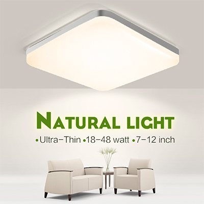 LED Light Home Modern Panel Light Ceiling Lamp Natural Light Warm White Cold White Round Square Living Room Bedroom Kitchen 1
