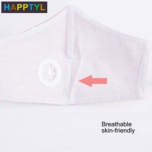 Image 5 - HAPPTYL 1Pcs אופנה לשני המינים כותנה נשימת פה מסכת בד הופעל פה מופל
