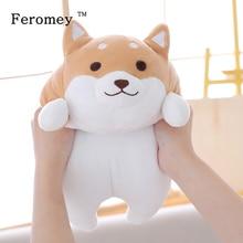 35/55cm de gordura shiba inu cão de pelúcia boneca brinquedo kawaii filhote de cachorro shiba inu recheado boneca dos desenhos animados travesseiro brinquedo presente para crianças do bebê