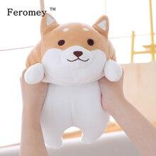 Perro gordo Shiba Inu de 35/55cm, muñeco de juguete de peluche Kawaii, cachorro, perro, Shiba Inu, almohada de dibujos animados, juguete para regalo para niños