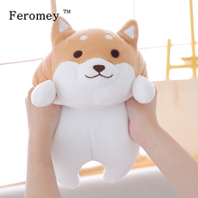 Poupée en peluche chien Shiba Inu 35/55cm gros chien, Kawaii, poupée de chiot, dessin animé, oreiller, jouet, cadeau pour enfants