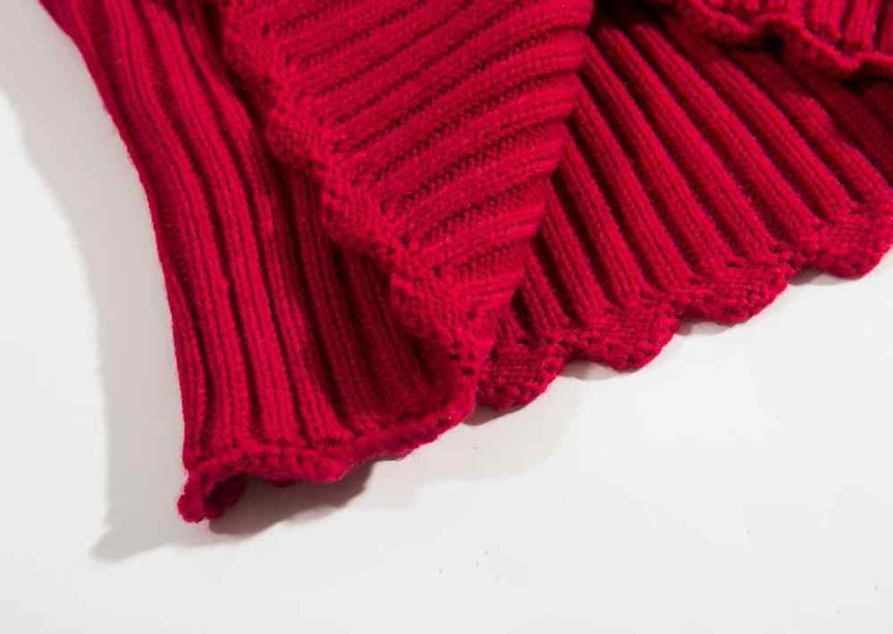Bazaleas, suéter Vintage Mila con cuello redondo para mujer, suéter de mujer Retro cálido bordado rojo con flores de Francia, suéter para mujer