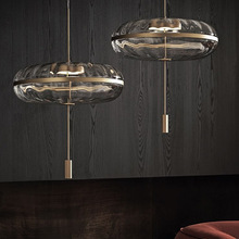 Nordic Simple New Post-Modern Light Luxury round Restaurant Oval GlassModel Bedroom Clothing Store Pumpkin Chandelier