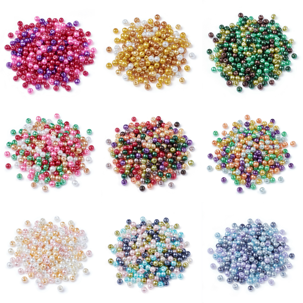 750pcs Mixed Color Various Style Acrylic Mouse Face Beads 12mm Jewelry Making