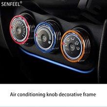 3 pièces couvercle de bague de bouton de commutateur de climatisation de voiture en alliage d'aluminium pour Mitsubishi ASX accessoires d'intérieur de voiture