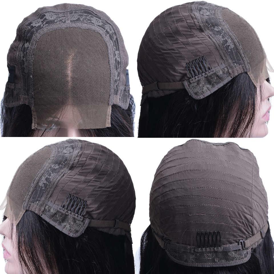Парики из натуральных волос на шнурках 4x4 Для Женщин OYM бразильские прямые волосы Remy Bob парик на шнуровке предварительно сорванные Детские волосы