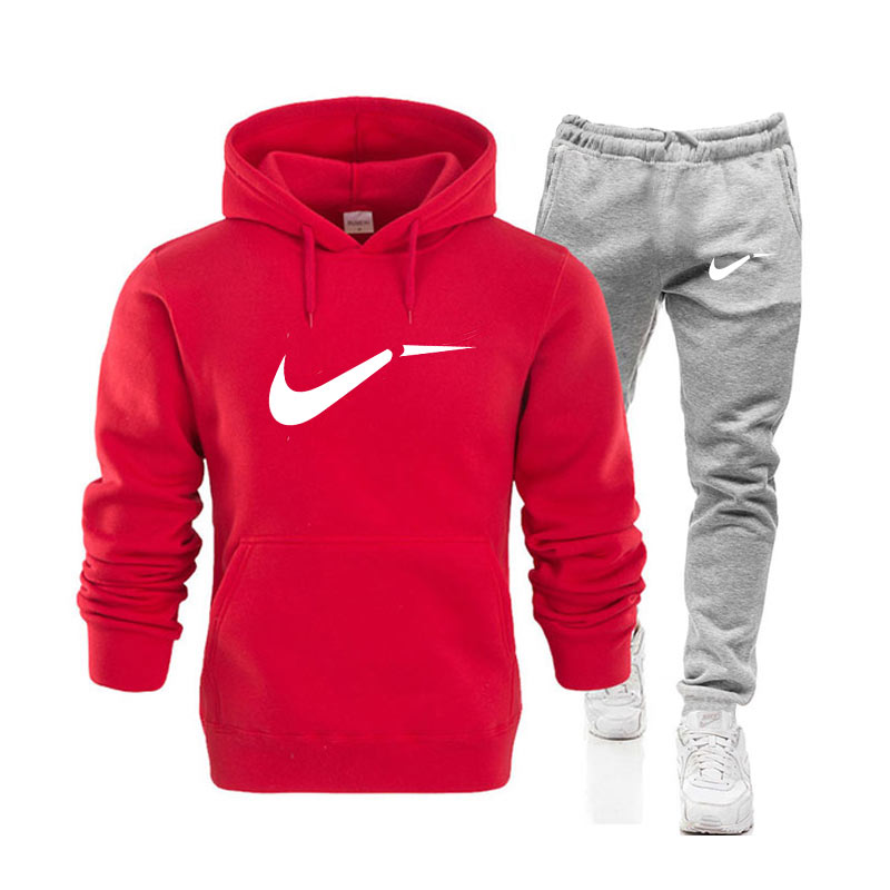 Kensbuy Autumn Men Hoodie Sweatshirt Jacket+ Joggers Sweatpants Man Printing Suits Sportwear Tracksuit Fight Color  Clothing