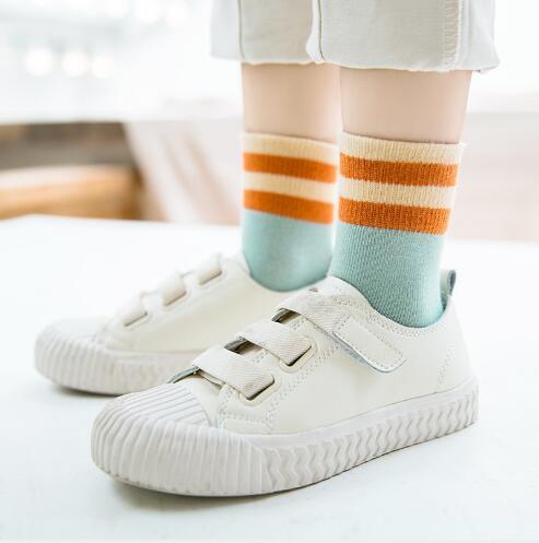 meninas de algodao meias grande tarja criancas meias 02